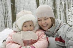 Piaceri di inverno Immagine Stock