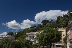 ` Piacevole Azur della Francia Cote d della città della città Fotografie Stock Libere da Diritti