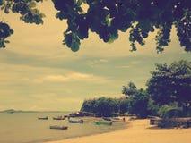 Piacevole e pacifico alla spiaggia di Pattaya che #roaring 25 fotografie stock libere da diritti