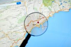 Piacevole, la Francia su Google Maps Immagine Stock Libera da Diritti