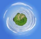 Piacevole poco pianeta verde Fotografia Stock Libera da Diritti