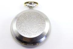 Piacevole un vecchio orologio da tasca su fondo bianco Fotografia Stock Libera da Diritti