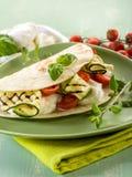 Piadina с mozzarella стоковое фото