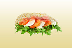 Piadina with cheese Stock Photo