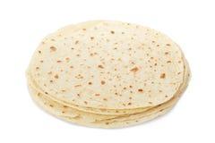 Piadina, italian tortilla heap royalty free stock images
