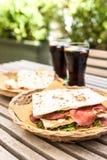 Piadina: Italiensk smörgås Royaltyfria Foton
