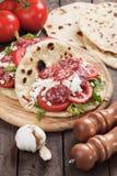Piadina Romagnola, Italian Flatbread Sandwich Royalty Free Stock Photo