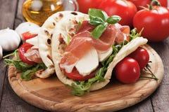 Piadina Romagnola, Italian Flatbread Sandwich Stock Image