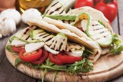 Piadina romagnola, italian flatbread sandwich Royalty Free Stock Images