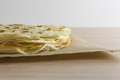 Piadina romagnola typical regional food in Italy. Italian piadina romagnola sfogliata typical regional food product of Italy stock image