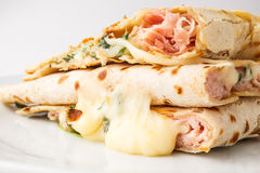 Piadina sandwich Stock Images