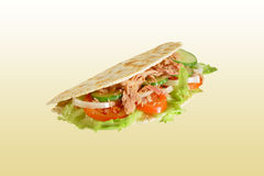 Piadina with tuna Stock Images