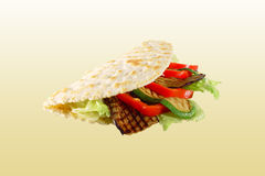 Piadina with vegetables Stock Photography