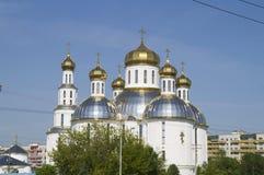 Piadosamente - el templo ortodoxo de Voskresensky Brest Bielorrusia fotografía de archivo