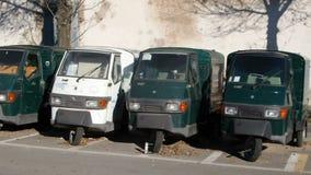 Piaggio Ape Cars stock footage
