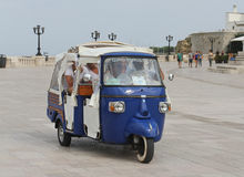 Piaggio gig för turister Arkivfoto