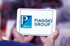 Piaggio motor vehicle manufacturer logo. Logo of Piaggio company on samsung tablet . Piaggio is an Italian motor vehicle manufacturer, which designs, engineers Stock Photo