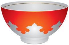 Piala o Piyala, tazza di tè asiatica centrale di tradizione illustrazione di stock
