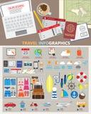 Piallatura di viaggio infographic Fotografia Stock Libera da Diritti