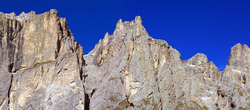 Pian Schiavaneis. Look at the mountaintops of the Dolomite Royalty Free Stock Photography