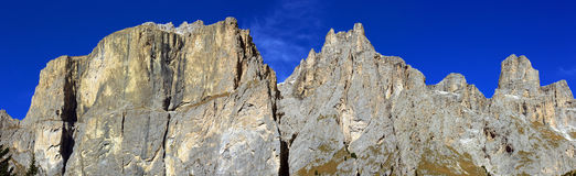 Pian Schiavaneis. Look at the mountaintops of the Dolomites Royalty Free Stock Images