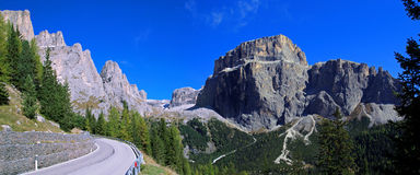 Pian Schiavaneis. Look at the mountaintops of the Dolomites Stock Images