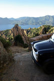 Piana calanques with a car Royalty Free Stock Photos