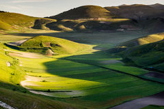 Piana Grande, Castelluccio di Norcia Stock Photos