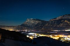 Piana Rotaliana-Trentino-alt Adige arkivfoto