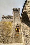 Piancastagnaio (Siena) - Schloss stockbild