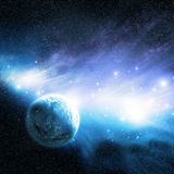 Pianeta & nebulosa Immagini Stock