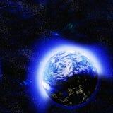 Pianeta astratto del fondo dello spazio cosmico illustrazione di stock
