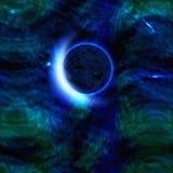 Pianeta astratto del fondo dello spazio cosmico illustrazione vettoriale