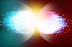 Pianeta blu & pianeta del fuoco Immagine Stock
