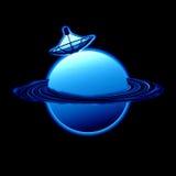 Pianeta blu satellite Fotografie Stock Libere da Diritti