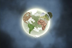 Pianeta con i continenti Immagine Stock