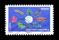 Pianeta con le piante, serie delle piante (flora), circa 2011 Immagine Stock