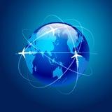 Pianeta del volo degli aerei Fotografie Stock Libere da Diritti