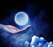 Pianeta della luna disponibile Media misti Fotografie Stock Libere da Diritti