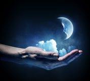 Pianeta della luna disponibile Media misti Fotografia Stock