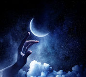 Pianeta della luna disponibile Media misti Fotografia Stock Libera da Diritti