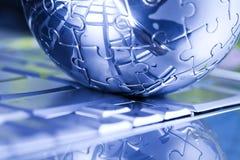 Pianeta della terra di puzzle Fotografia Stock