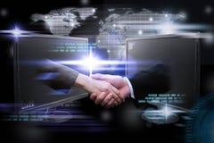 Pianeta di Digital, rete internet mondiale di affari online Immagine Stock Libera da Diritti