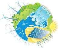 Pianeta di potenza verde di ECO royalty illustrazione gratis