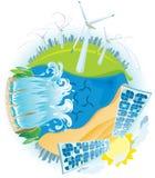 Pianeta di potenza verde di ECO Fotografia Stock Libera da Diritti
