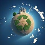 Pianeta di riciclaggio Fotografia Stock Libera da Diritti