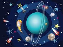 Pianeta di Urano nello spazio Immagine Stock