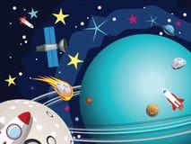 Pianeta di Urano nello spazio Immagine Stock Libera da Diritti