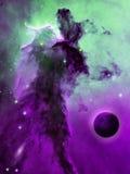 Pianeta e nebulosa Fotografia Stock