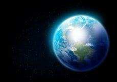 Pianeta e satellite Immagini Stock Libere da Diritti